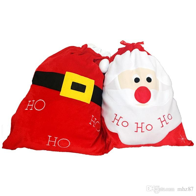 Großhandel Exquisite Weihnachten Tag Dekoration Santa Große Sack ...