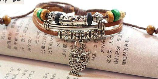 hommes femmes fait à la main rétro corde bracelets en cuir bracelet tissé à la main en gros pour les hommes corde tressé bracelet mâle bracelet bijoux