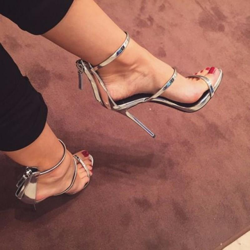 Women Sandals Fashion Brand 2016 Stiletto High heels Lady Shoes Buckle T Show Evening Shoes Sandalias Women Shoes Mujer Sapatos