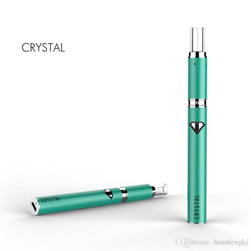 Original autêntica caneta de cera de aquecimento de cristal Kit 500 mAh Vape caneta cera atomizador dupla de aquecimento de quartzo com quartzo bucal cera vaporizador Kit