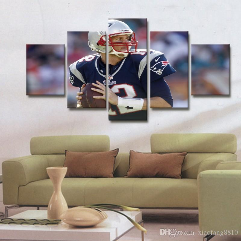 Framed 5 Panel Wall Art Design Oil Paintings Living Room Decor Pictures Respect Sports Posters Modern Home Bedroom Backdrops