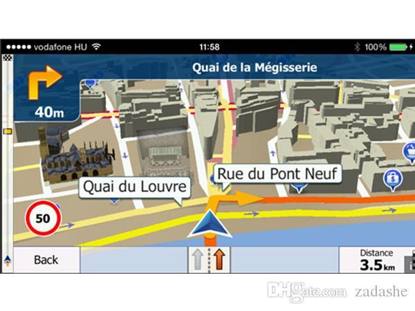 Avrupa Kuzey Afrika, Güney Amerika Amerikalı için Araba GPS 8GB SD / TF Hafıza Kartı ile İGO'li Primo GPS Navigator Haritası için Igo Haritası