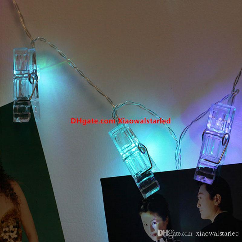 LED Clip Lampa String 1.2meter 2.2meter 4.2meter Baterii Box Dekoracyjne Lampy Photo Clip Lantern