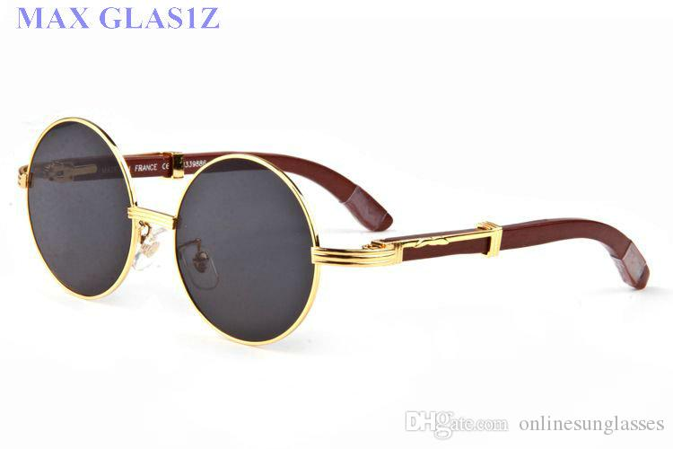 Güneş gözlüğü erkek kadın wrapeyeglasses yuvarlak shades marka güneş cam tasarımcı ahşap tam çerçeve gözlük kutusu ile yüksek kaliteli UV400