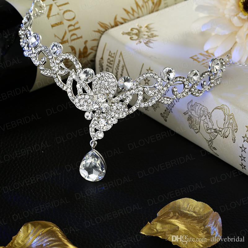 Romantic Crystal Butterfly Headband Shinny Fairy Rhinestone Floral Wedding Prom Evening Party Headpieces Jewelry Accessories