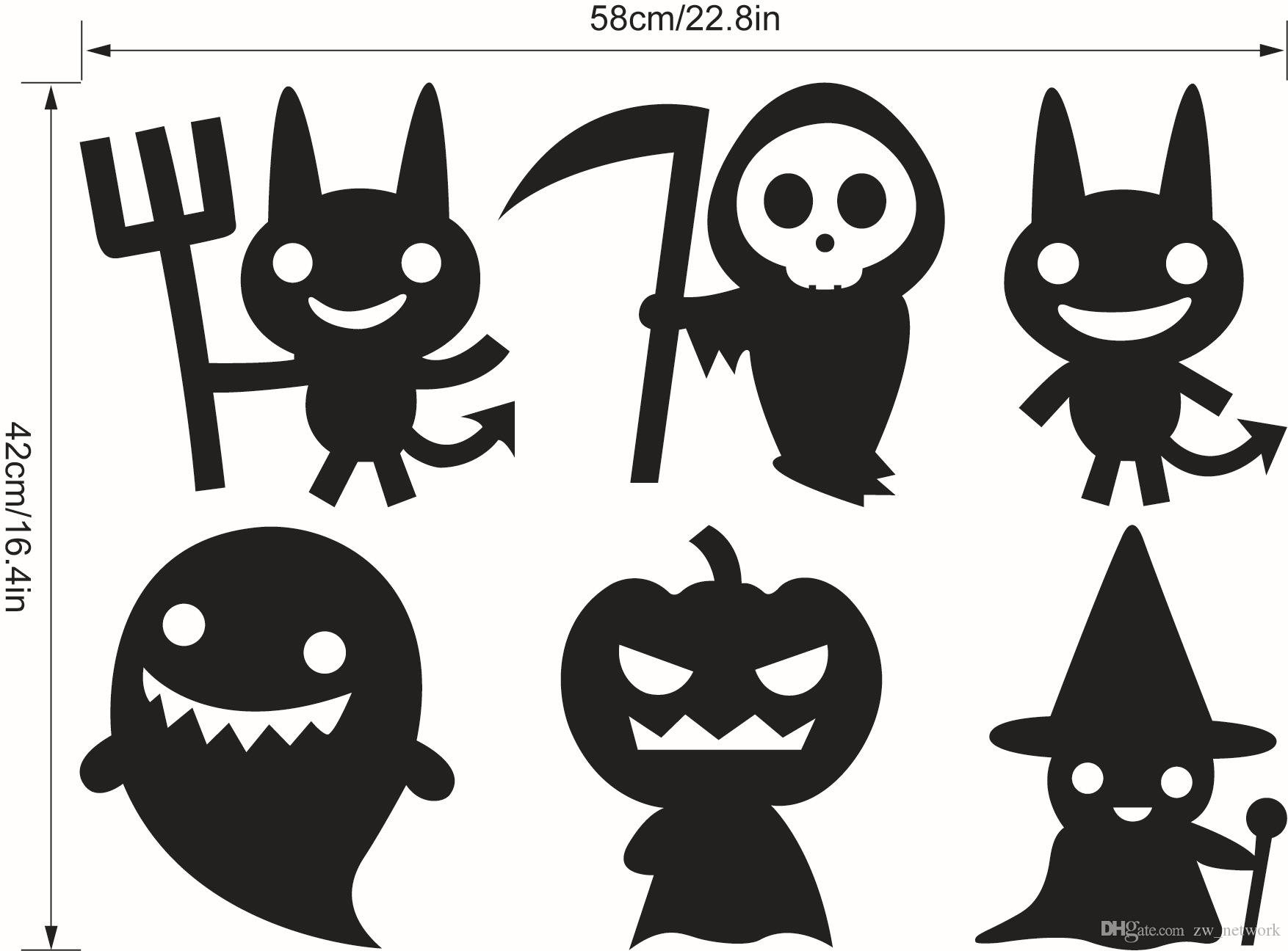 Home Decoration Halloween Wall Stickers Series Door Window
