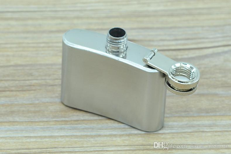 2 oz en acier inoxydable Flasque Portable Outdoor Flagon Whisky Bénitier vin Pot d'alcool bouteilles avec la boîte en gros
