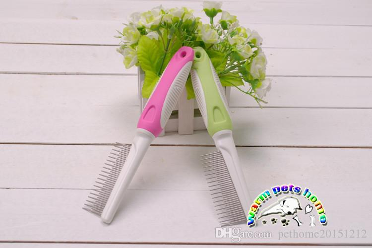 Hot Sell Dog grooming comb stainless steel dog comb short and long tooth dematting comb CM901