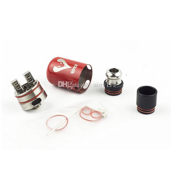 Original Viper RDA New Atomizer Vapor 22mm RDA AFC 2 Posts With Metal drip tip Peek Insulator For 510 E Cigs Vape Mods