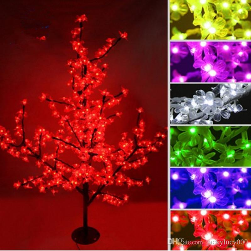 new led cherry blossom christmas trees lighting waterproof garden landscape decoration lamp for wedding party christmas supplies commercial christmas decor