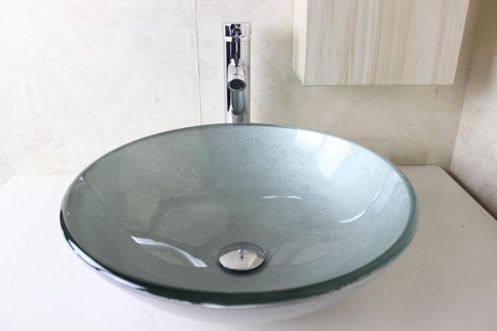 Grosshandel Heisser Verkauf Glas Basin Badezimmer Waschbecken