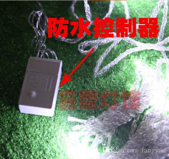 6m x 3m Cachoeira do partido luz do casamento do Natal levou ao ar livre da fada de Cordas Holiday Garden 600 LED Cortina Luzes Decoração EU.US.uk au .plug