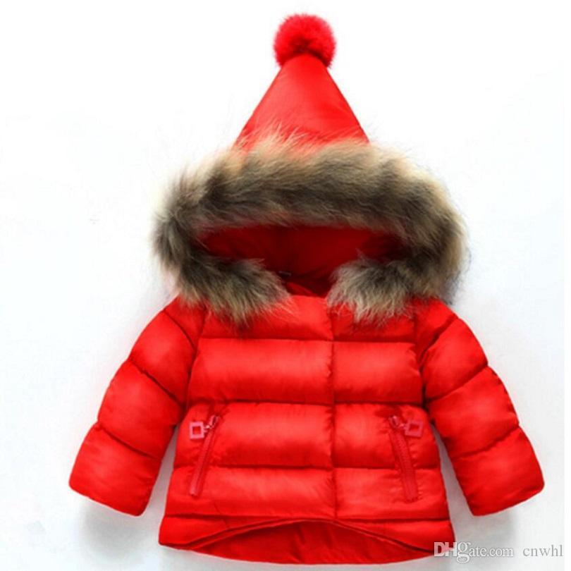 9954ccf15b87 Children Christmas Red Coat Baby Girls Winter Coats Long Sleeve Coat Girl S  Warm Baby Jacket Winter Outerwear Cartoon Fleece Boys Down Jacket With Hood  Boys ...