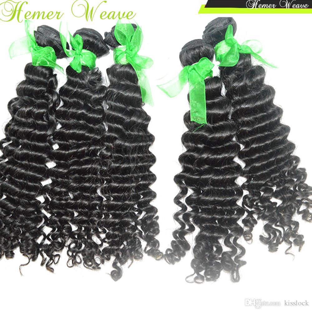 4 Bundles High End Lovely Deep Curly Virgin Indian Raw Hair Buena calidad Precio asequible Ofertas baratas Cabello grueso