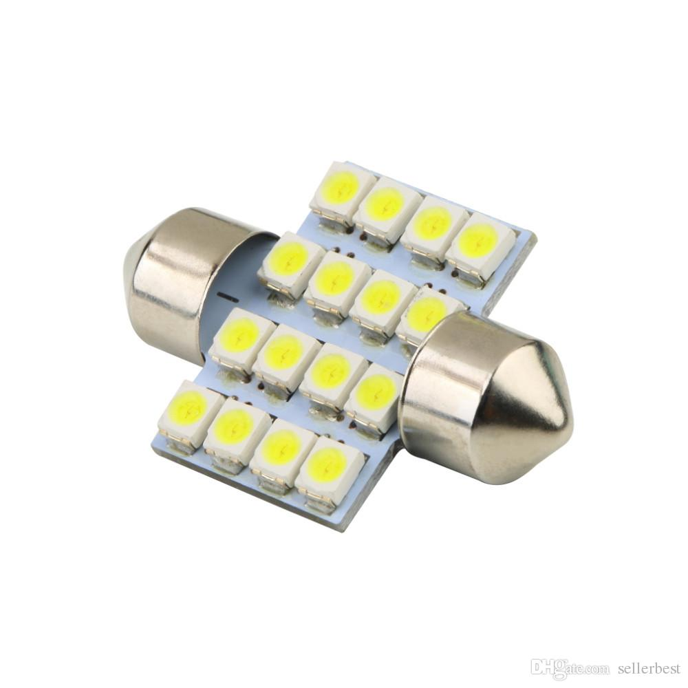 16 SMD LED 1210 31 мм автомобиль теплый белый интерьер купол гирлянда лампа DC 12 В C5W лампы для чтения лампы