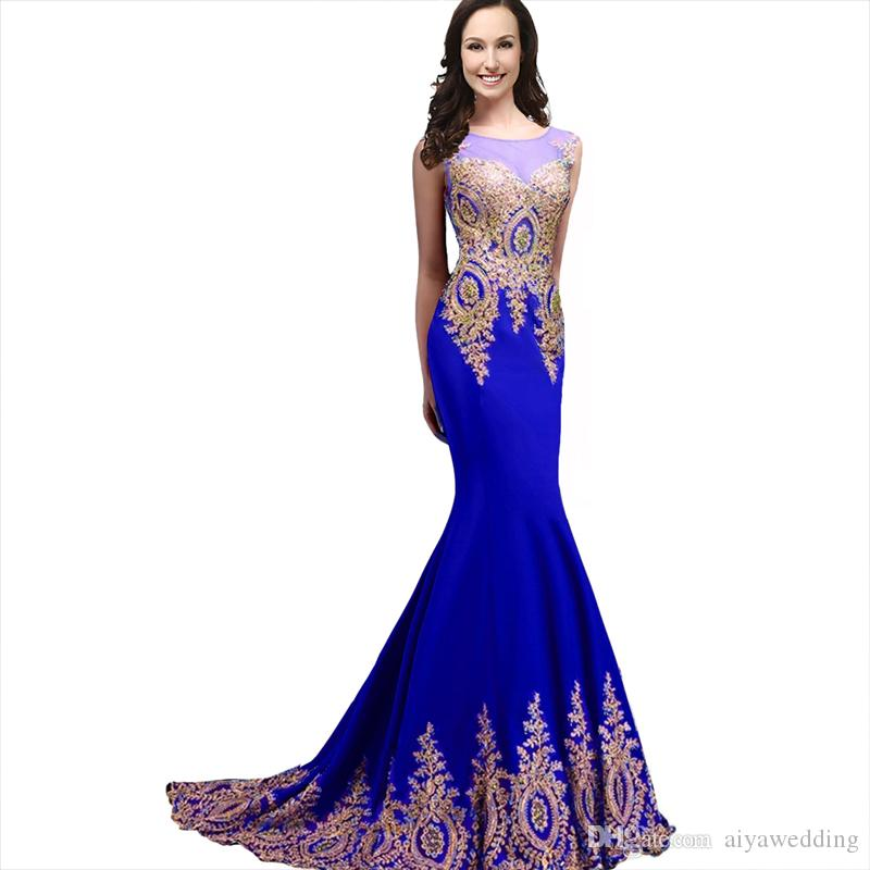 2019 Evening Dresses Sheer Jewel Neck Illusion Back with Crystal Mermaid Rhinestones Prom Gowns Cheap Custom Gowns