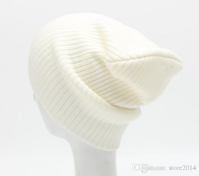2016 New Women Men Unisex Knitted Winter Cap Casual Beanies Solid Color Hip-hop Snap Slouch Skullies Bonnet beanie Hat Gorro