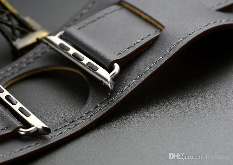 Bracciale in pelle originale classica di lusso Apple Osservare 38 millimetri 40 millimetri 42 millimetri 44 millimetri fascia del cuoio genuino cinghia l'iWatch Serie 5 4 3 2 1 Gift Box