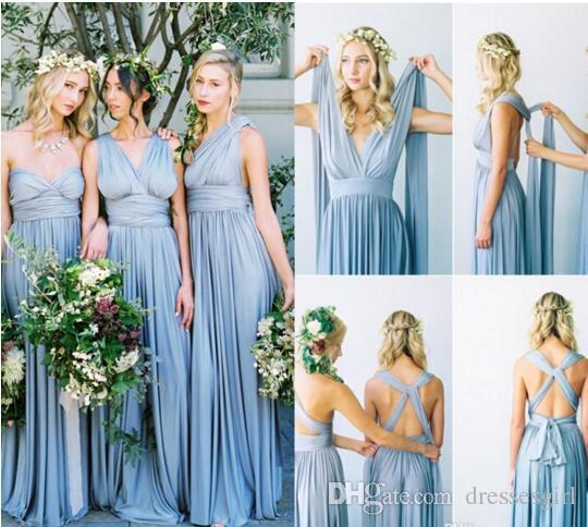 Cabrio Stilleri Şifon Gelinlik Modelleri Ucuz Uzun Ülke Stil Plaj Bahçe Düğün Parti Onur Elbise Törenlerinde Resmi Elbiseler