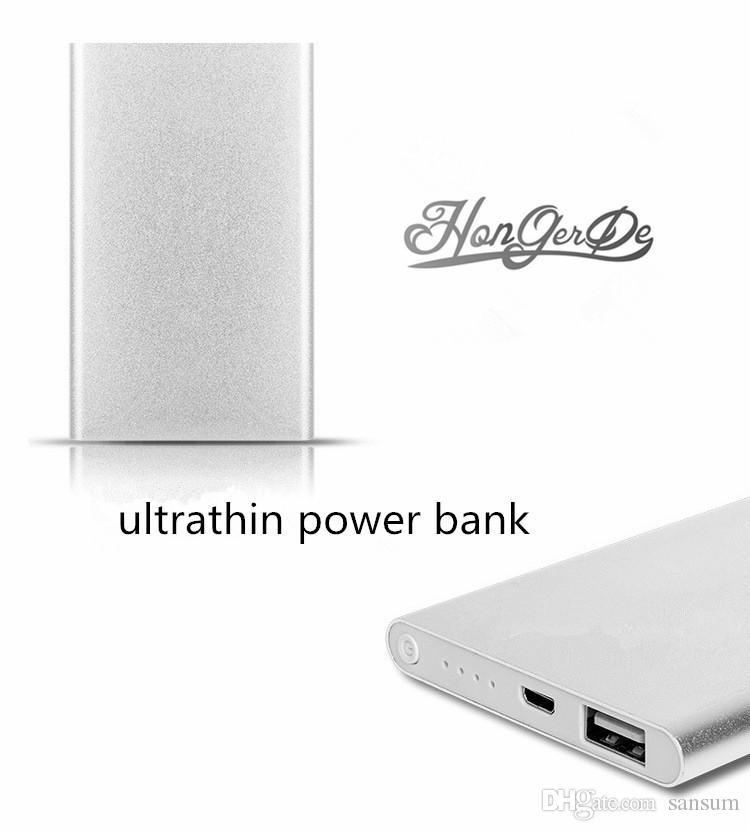 قوة البنك 5000mAh البطارية الخارجية Powerbank الكمبيوتر اللوحي شاحن الهاتف الخليوي البنوك والكهرباء مع صندوق البيع بالتجزئة