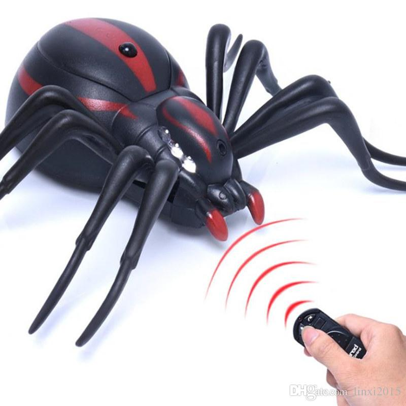 RC Ants Cockroaches Spiders Remote Control Mock Fake RC Toy Animal Xmas Trick Terrifying Toy 1.5V AG13Battery fast shipping