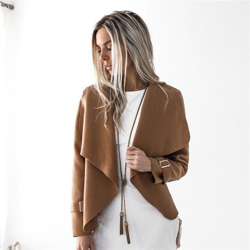 558ecd175ee12 Winter Women Wool Coat With Long Sleeve Women Outerwear Clothing ...