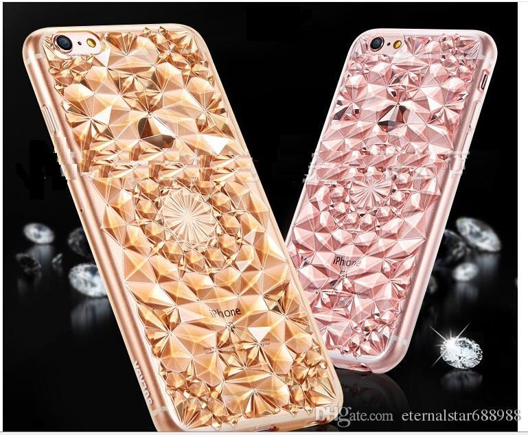 iphone 5s rose gold case. iphone 6s 5s 6 plus 3d diamond rose gold kaleidoscope case in stock