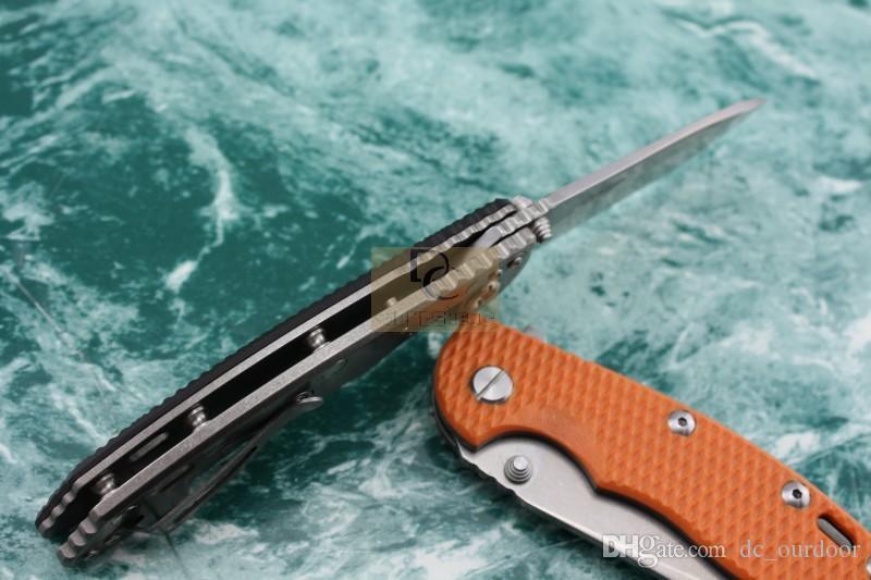 Версия дикого кабана Рик ХИНДЕРЕР CTS XM-18 Titanium + G10 ручка D2 высокоскоростное стальное лезвие складной нож для кемпинга охота EDC инструмент