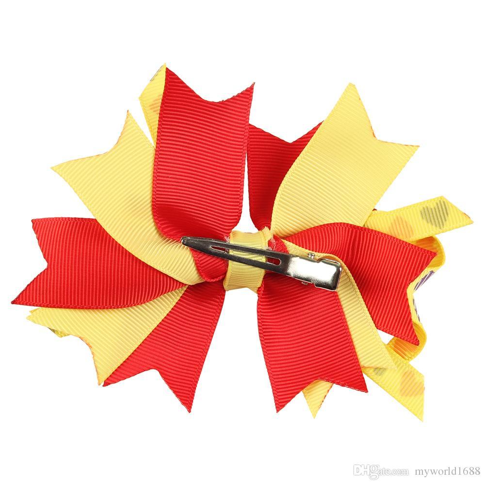 Горячие рождественские заколки для волос заколки аксессуары для детей девочки модные дети babys милый цветок бантом заколка для волос заколка для волос для рождественской вечеринки