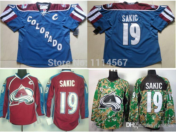Colorado Avalanche #19 Joe Sakic 2014 Camo Jersey