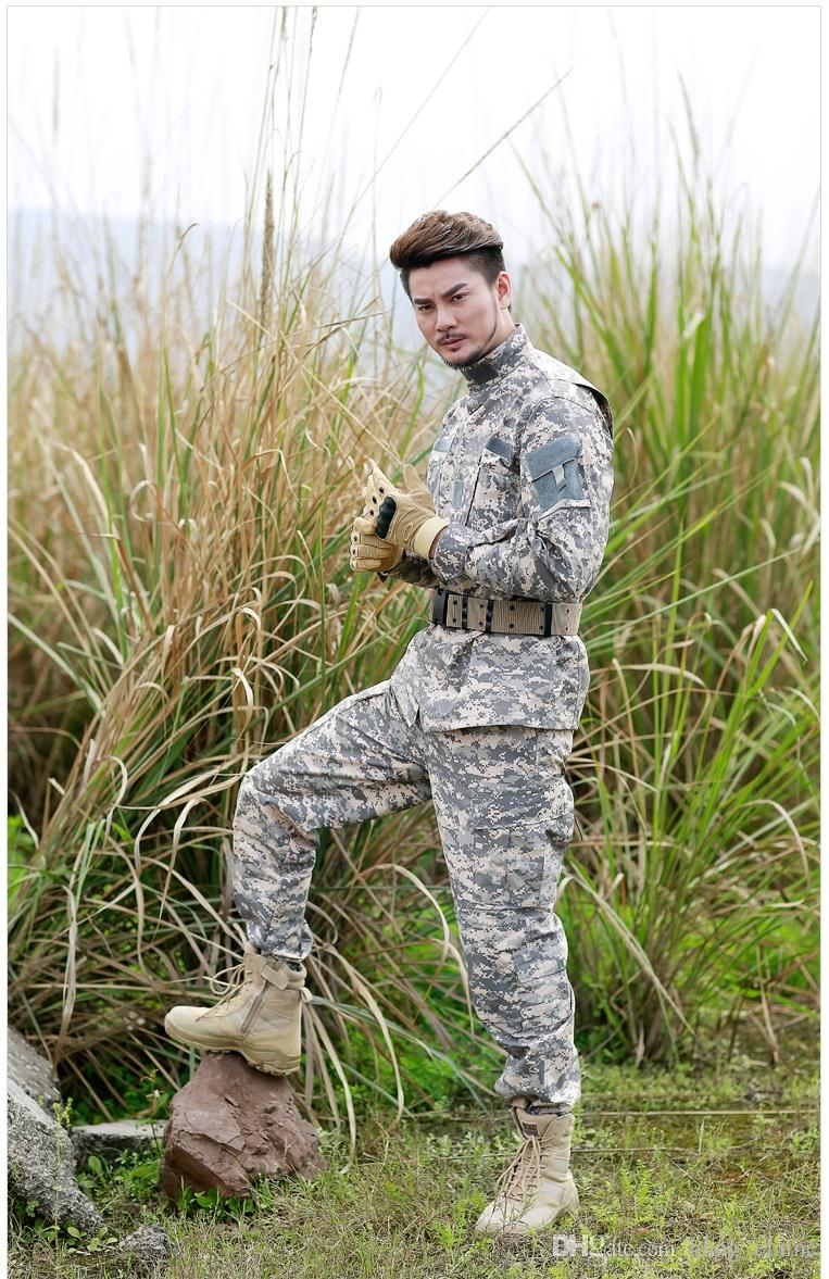Tactical Camouflage Uniform Clothes Suit Men US Army Multicam Combat tactical jacket sets CS paintabll hunting clothing