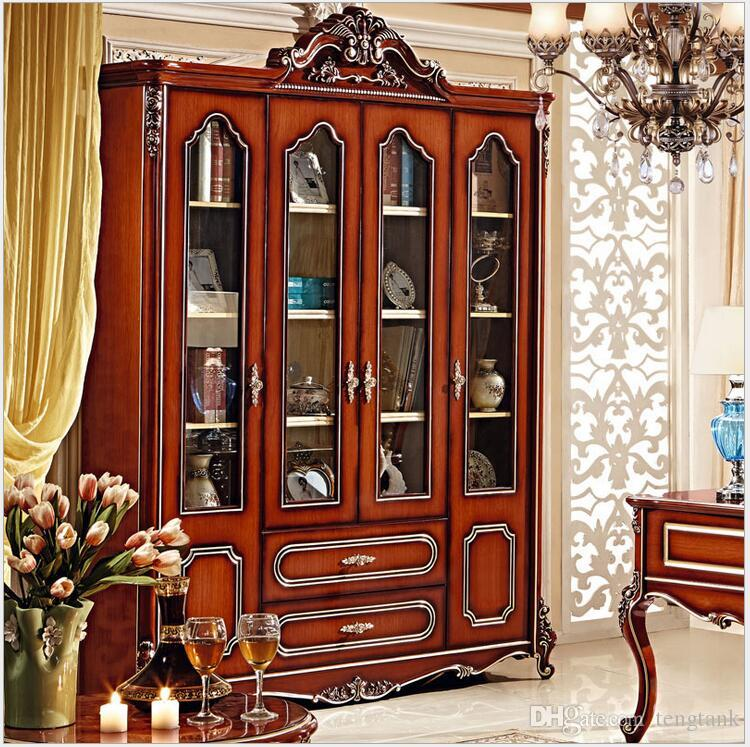 2018 American Style Solid Wood Bookcase 18 Meters Combination Of Large Colored Glaze Four Door Cabinet Pfy4004 From Tengtank 129649