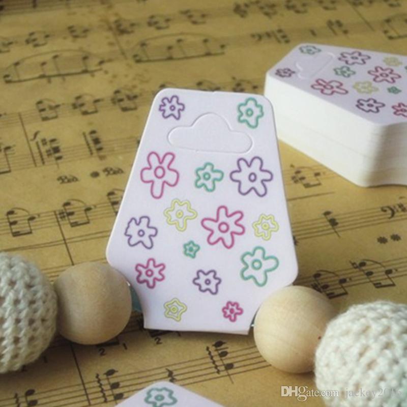 Fashion Necklace Card Brand New Pink Flower Necklaces Cards Bracelet