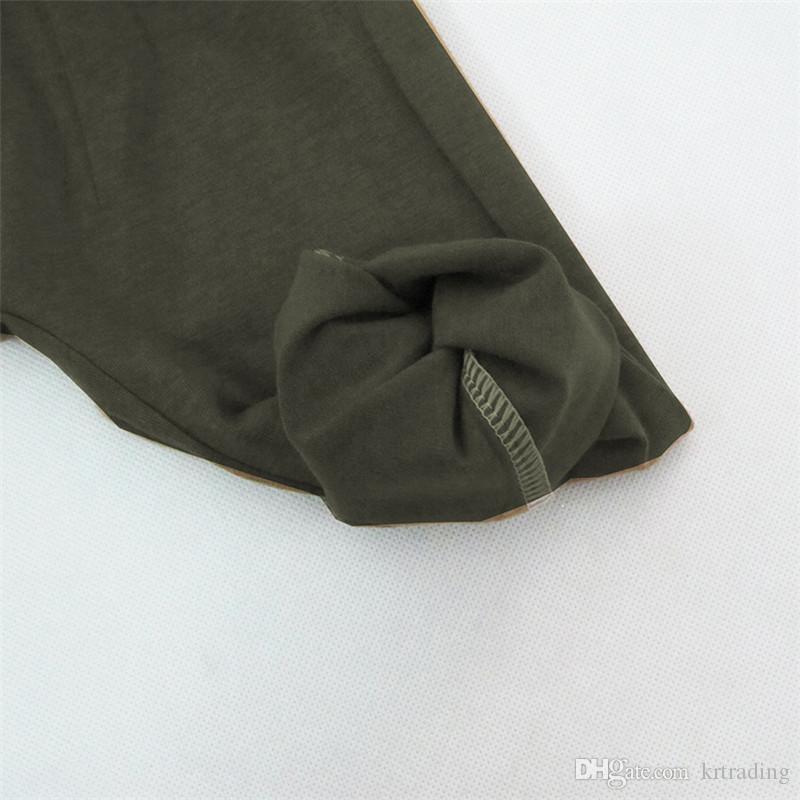 Bambino autunno lettere stampa abiti set manica lunga stampa nera pullover + pantaloni harem colore solido neonati abiti di moda 0-3T