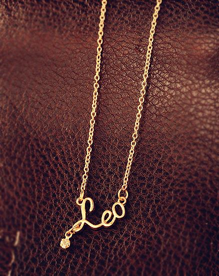 Fashion Jewelry 12 Zodiac Signs Letter Pendants Necklace Womens Ladies Chokers Sweater Chain Vintage Twelve Constellations Letter Necklaces