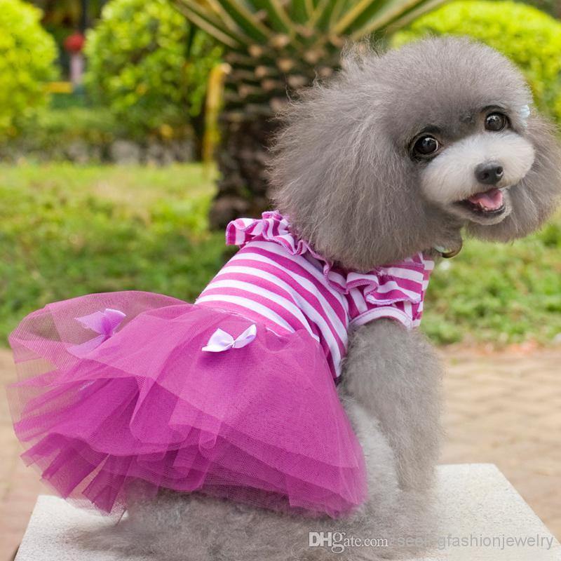 Compre 5 Tamaño De La Falda De La Burbuja Ropa Para Perros Ropa Del ...