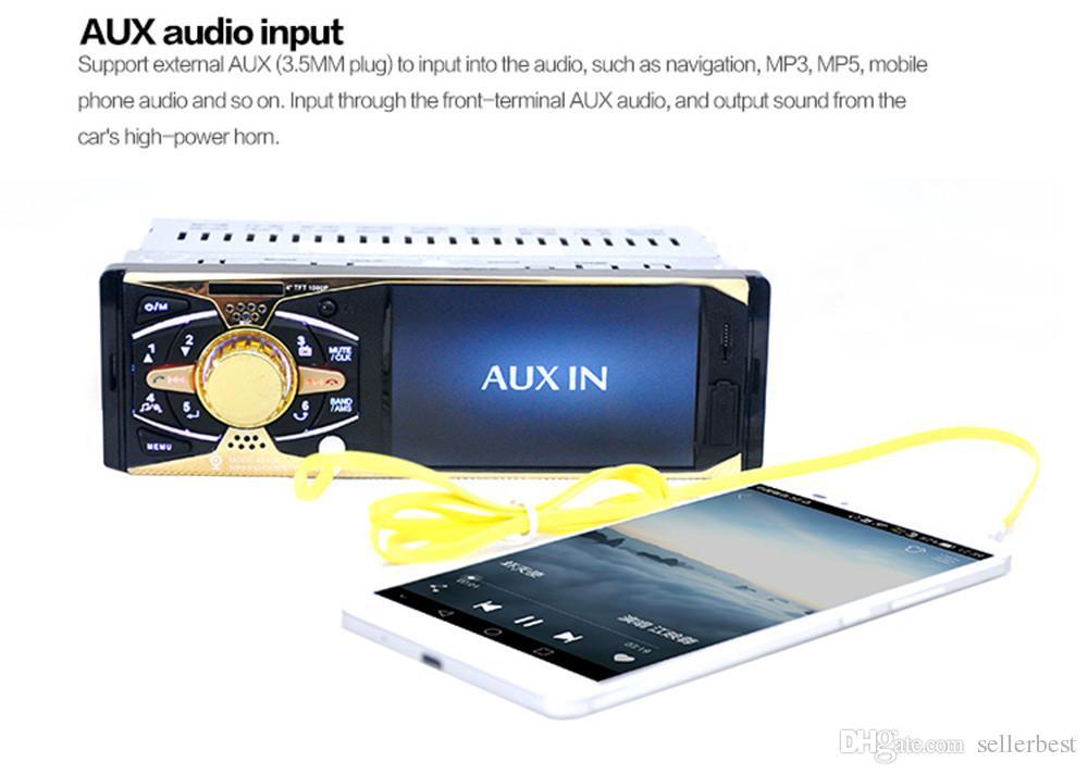 4 pouces écran Bluetooth V2.0 caméra de recul voiture audio stéréo 12V auto vidéo MP5 lecteur AUX USB USB SD MMC avec télécommande