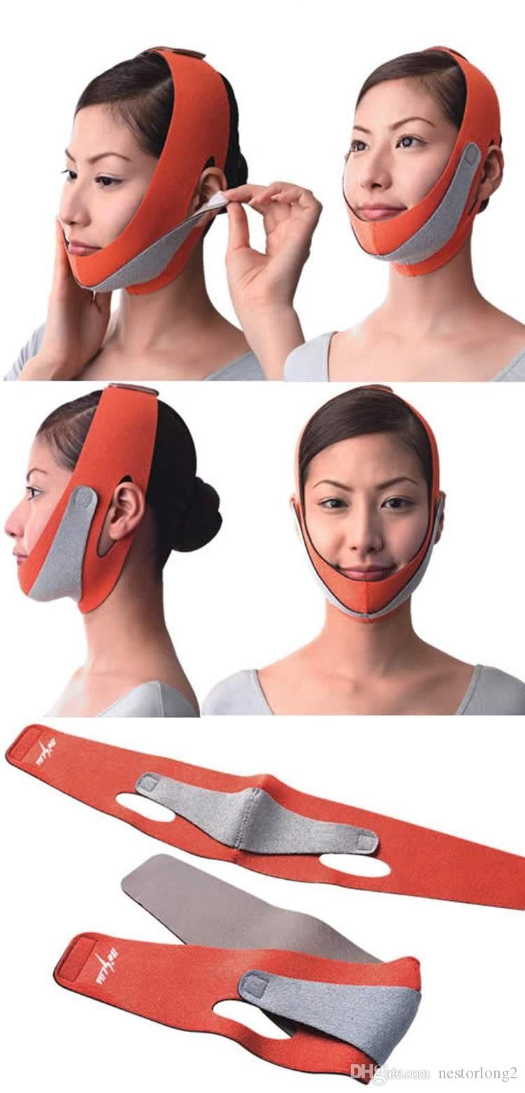masque de minceur pour visage chaud minceur facial masseter double menton soins de la peau mince ceinture bandage