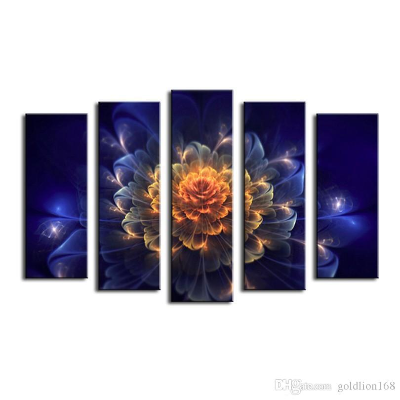 Abstraction Flower Canvas Painting Pictures On The Wall Print Paintings Home Decor Canvas Wall Art Modular Photos No Frame