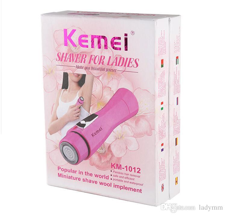 Factory Price! Kemei KM-1012 Portable Lady Personal Electric Shaver Shaving Mini Epilator Hair Removal Razor Trimmer