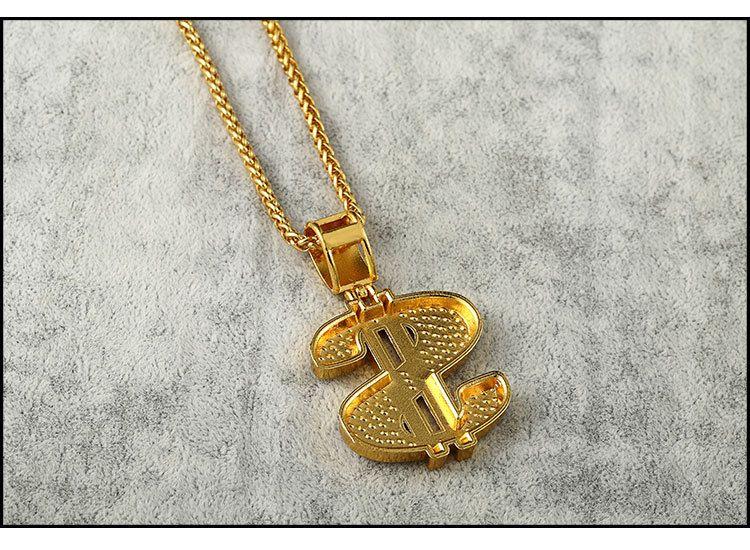 Высокое качество женщин мужские хип-хоп 24k позолоченный рэппер Кристалл доллар США подвески рок USD цветочный горшок подвески цепи ожерелья ювелирные изделия