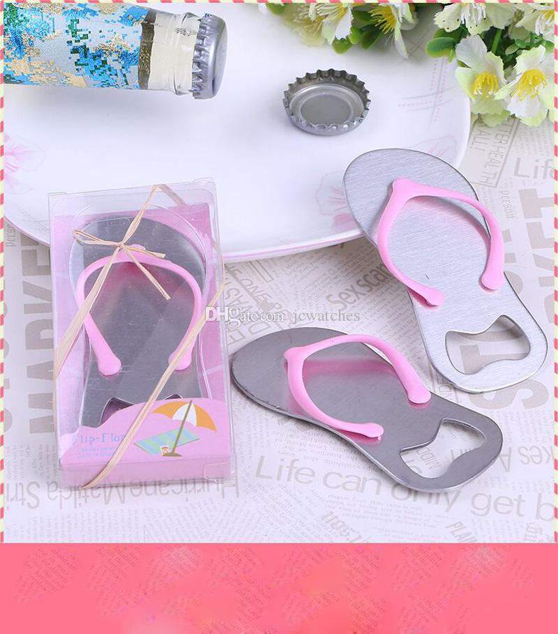 Pink Flip Flops Bottle Opener New Arrival Sandals Shoes Beer Bottle Opener Red Wine Openers Wedding Favor Party Gifts