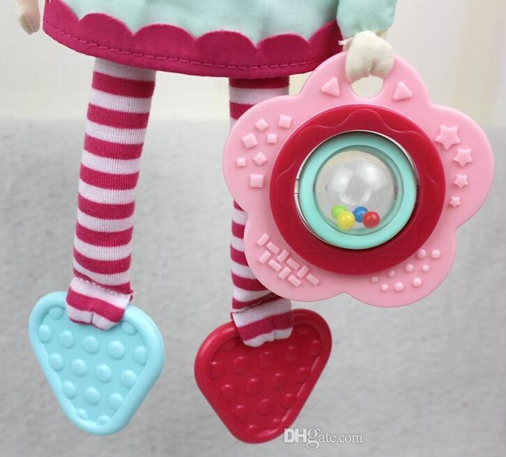 Baby child Plush Rattle Toys soft Lovely Girl Hanging Early Educational Teether Rattles Toys doll for Crib Bed Stroller Cot car