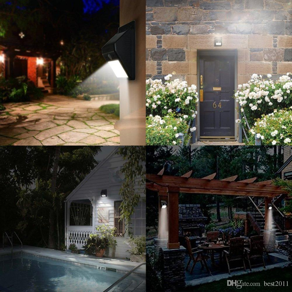 8LED Solar Lights with Motion Sensor Patio Lamp Wireless Light Super Bright Weatherproof Motion Activated Auto On/Off