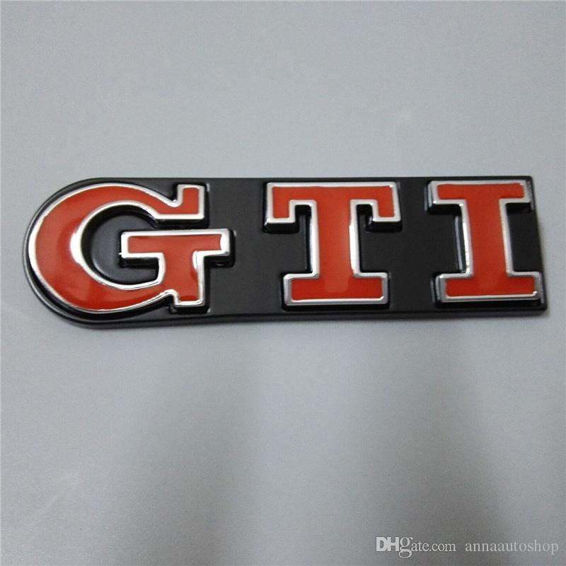 3D emblèmes de voiture de logo GTI pour Volkswagen ABS badges de voiture en plastique avant avec deux couleurs