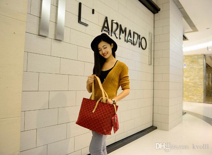 New Fashion leather Canvas handbag portable shoulder bag Coin Purse fashion leisure bag ladies bag commuter bag birthday Christmas gift BAG