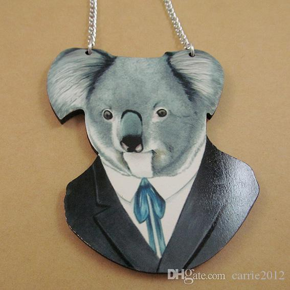 Wholesale koala head wooden pendant good wood animal cool hiphop wholesale koala head wooden pendant good wood animal cool hiphop fashion necklace wholesale rose pendant necklace pendants and necklaces from carrie2012 aloadofball Choice Image