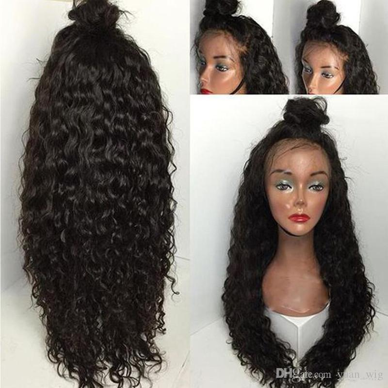 Lace Front Human Hair Wigs Deep Wave Curl For Black Women Pre Plucked 130% Brazilian Lace Front Wigs