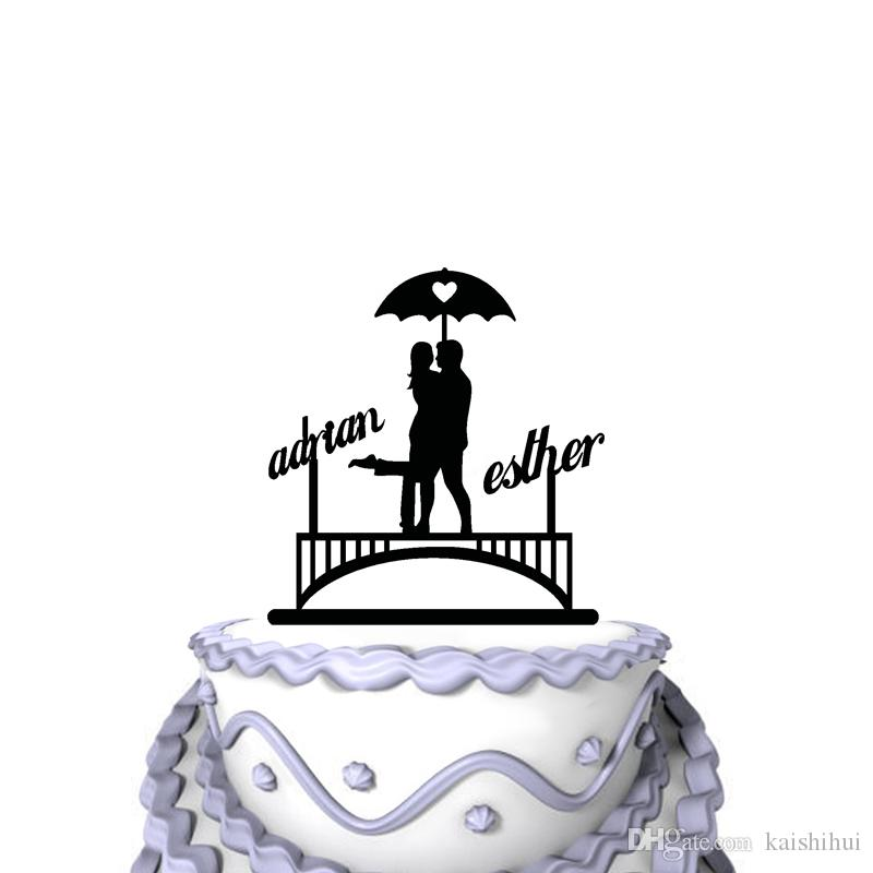 Personalized Funny Wedding Cake Toppers Mr Mrs Under The Rain