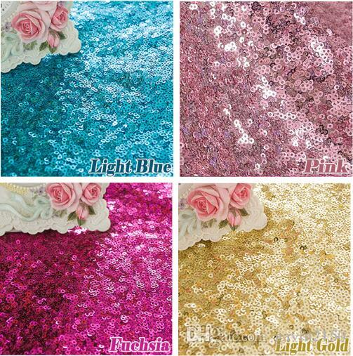 1 Yard Premium Sparkly Embroidery Mesh Lace Sequin Fabric 3mm Glitter Gold Sequins Cloth Fabric For Clothes/Events Christmas Decoration